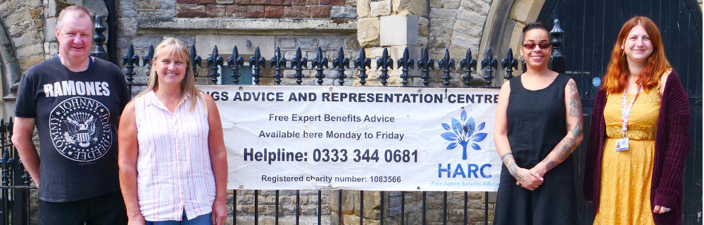 This is a picture of staff and volunteers at Hastings Advice and Representation Centre
