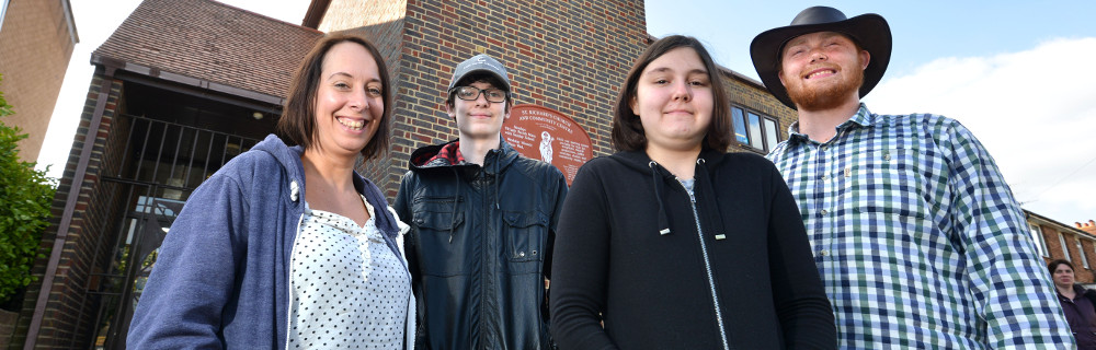 This is a picture of members of the Hangleton & Knoll Youth Leaders team with organiser Michelle Old (left).