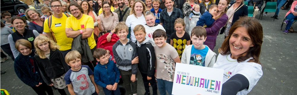 This is a picture of the launch of the Newhaven EZ Community Fund at Newhaven Fort, August 27 2018.
