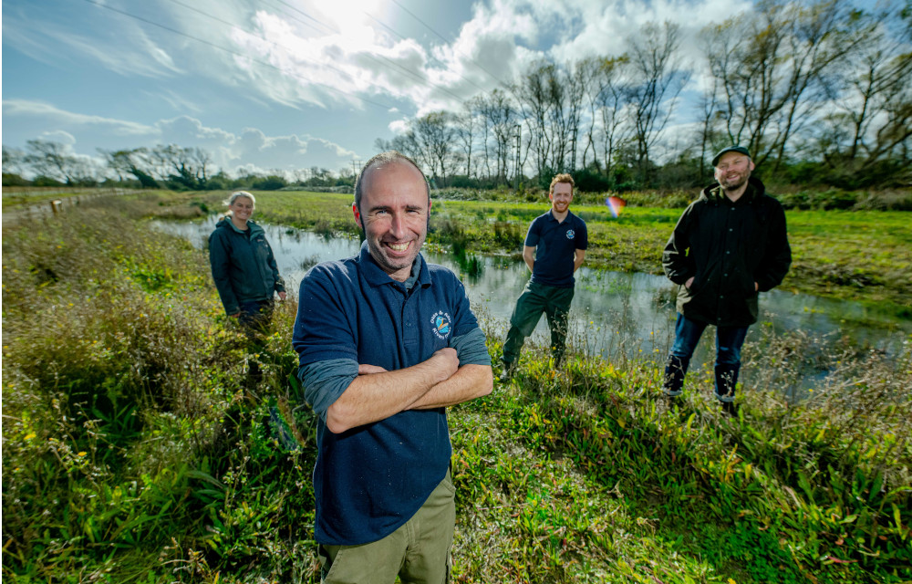 A picture of volunteers and staff at the Ouse & Adur Rivers Trust