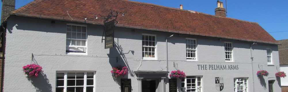 This is a picture of the Pelham Arms in Lewes, a Hall & Woodhouse pub.