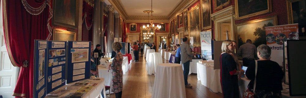 This is a picture of exhibitors at the first Sussex Charities Fair which took place on 13th October 2018 at Goodwood House, Chichester.