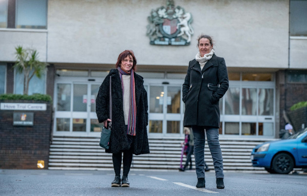Sam Hart and Lisa Harding of Sussex Prisoners Families. Photo Darren Cool