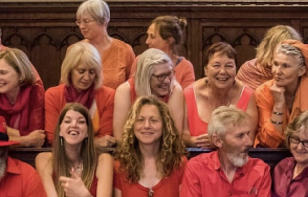 This is Vocal Explosion community choir from Hastings, funded by the Lawson Fund.