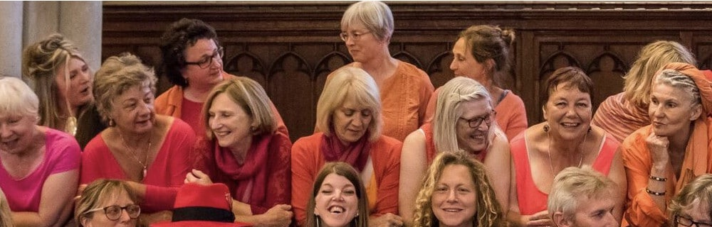 This is a picture of Vocal Explosion from Hastings, one of the groups funded by the Lawson Fund recently.